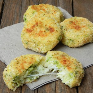foto Crocchette leggere di patate e broccoli al forno