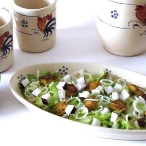 foto Insalata esotica di cipollotti, cocco e tofu dorato alle spezie