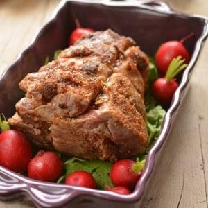 foto Rollè di maiale farcito alla frutta secca e cranberries